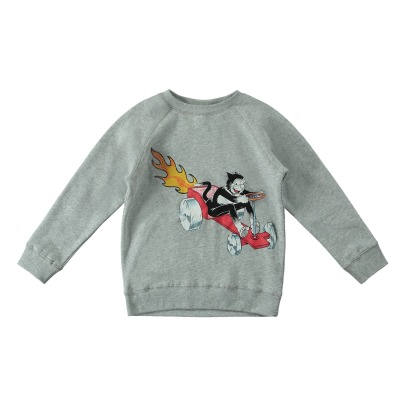 Stella McCartney Kids Sweat Molleton Coton Bio Chat Billy-listing