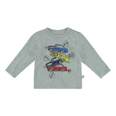 Stella McCartney Kids T-Shirt Bio-Baumwolle Autos Georgie-listing