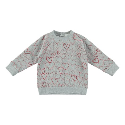 Stella McCartney Kids Sweatshirt Fleece Bio-Baumwolle Herzen Betty-listing
