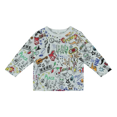 Stella McCartney Kids T-Shirt Cotone Bio Allover Georgie-listing