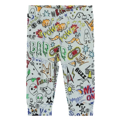 Stella McCartney Kids Giggle Allover Organic Cotton Leggings-listing