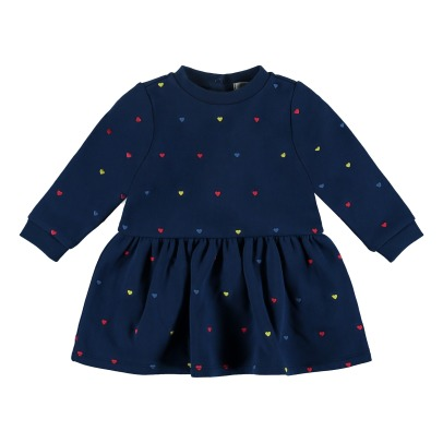 Stella McCartney Kids Bretta Embroidered Organic Cotton Fleece Dress-listing