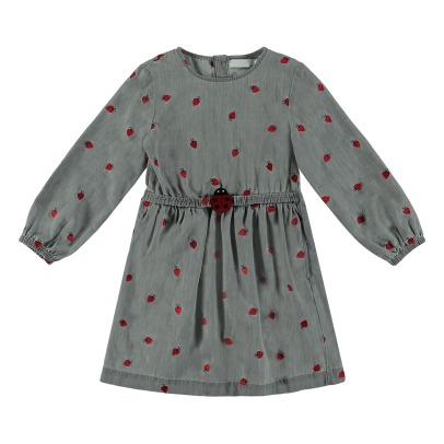 Stella McCartney Kids Skippy Embroidered Ladybird Dress-listing