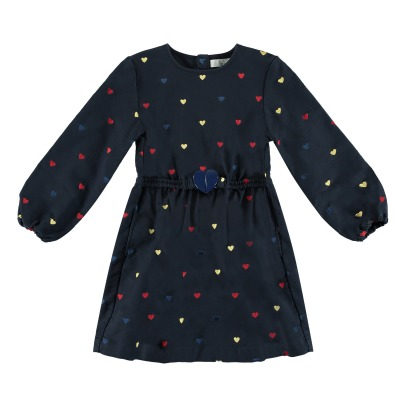 Stella McCartney Kids Skippy Hearts Embroidered Dress-listing
