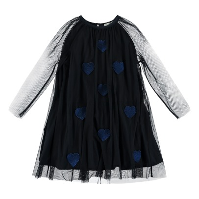 Stella McCartney Kids Misty Heart Embroided Tulle Dress -listing