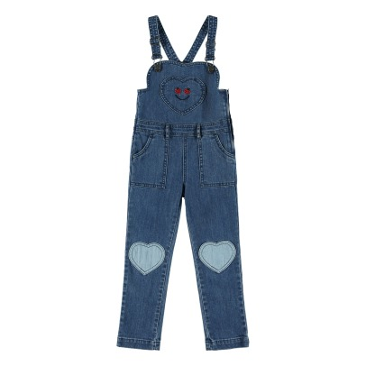 Stella McCartney Kids Alma Heart Patches Dungaree-listing