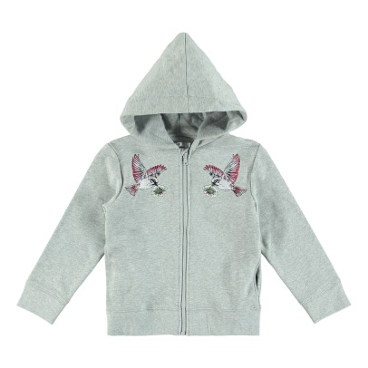 Stella McCartney Kids Hummingbird Organic Cotton Hooded Sweatshirt-listing