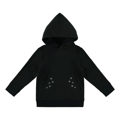 Stella McCartney Kids Heath Embroidered Hummingbird Organic Cotton Hooded Sweatshirt-listing