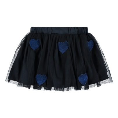 Stella McCartney Kids Gonna di tulle Patchs Cuori Honey-listing