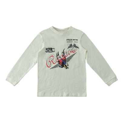 "Stella McCartney Kids T-Shirt Coton Bio ""Racers"" Gene-product"