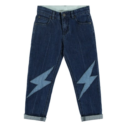 Stella McCartney Kids Jean Droit Patchs Lohan-listing