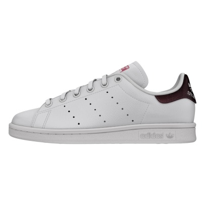 Adidas Stan Smith Snake Detail Leather Lace-up Trainers-listing