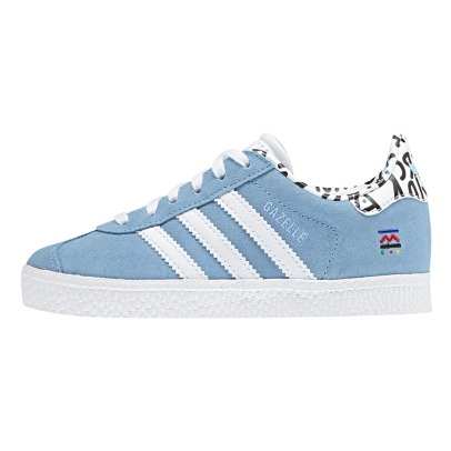 Adidas Gazelle Print Suede Lace-up Trainers-listing
