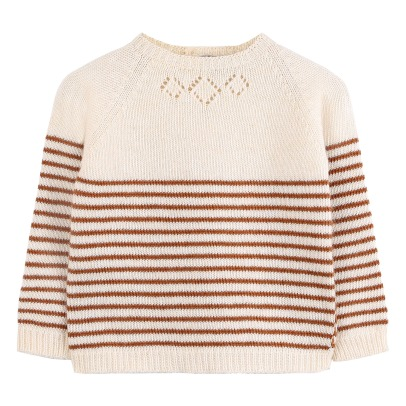 Emile et Ida Wool and Cashemire Striped Jumper -listing