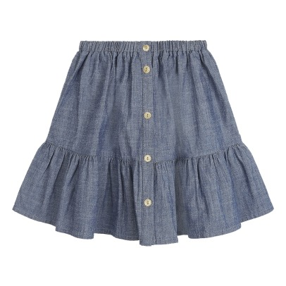 Emile et Ida Chambray Buttoned Skirt -listing