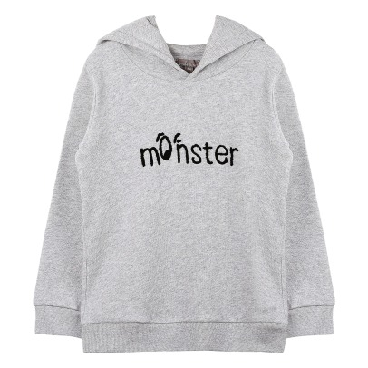 "Emile et Ida ""Monster"" Embroidered Hoodie -listing"