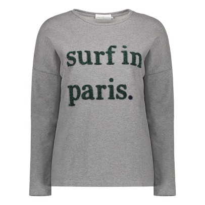 "Cuisse de Grenouille Felpa collo tondo ""Surf In Paris""-listing"