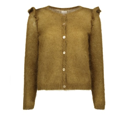 Des petits hauts Colbert Silk and Mohair Cardigan -listing