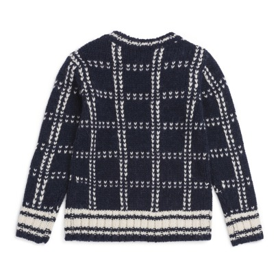 Bonpoint Checkered Woolen Jumper -listing