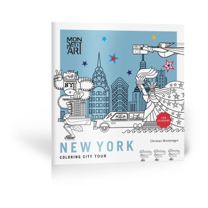 Mon Petit Art New York City Tour Coloring Book and Stickers -listing
