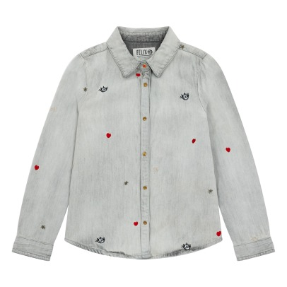 Scotch & Soda Slim Embroidered Shirt -listing