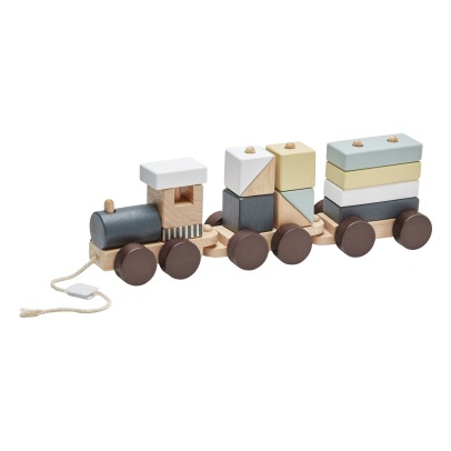 Kid's Concept Train avec cubes empilables en bois-product