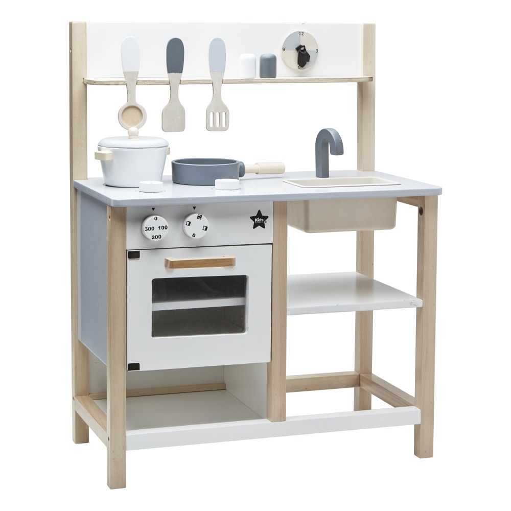 Wooden Kitchen White Kid\'s Concept Toys and Hobbies Children