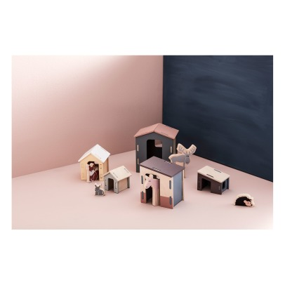 Kid's Concept Wooden Houses -Set of 5 -listing