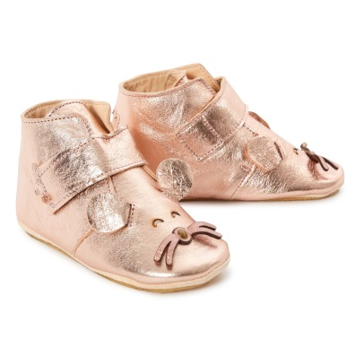 Easy Peasy Chaussons Cuir Scratch Kiny-listing