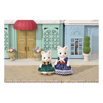 Sylvanian Dress up duo set - Silk Cat Mother and Girl -listing