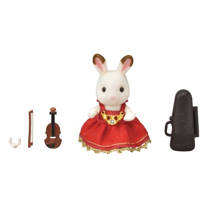 Sylvanian Chocolate Rabbit Violin Concert Set -listing