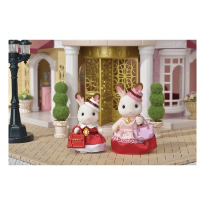 Sylvanian Dress up duo set - Chocolate Rabbits Mother and Girl -listing