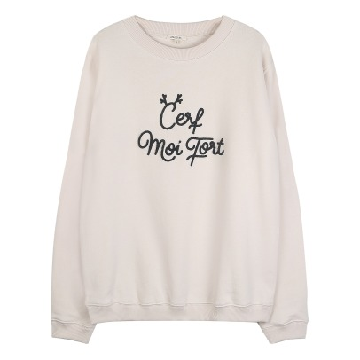 "Emile et Ida Sweat ""Cerf Moi Fort"" - Collection Femme-listing"