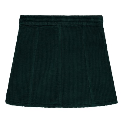 Hundred Pieces Ribbed Velvet Trapeze Skirt-listing