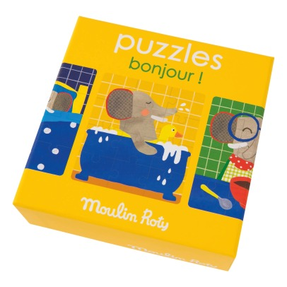 Moulin Roty Bonjour! Puzzle - Set of 3-listing