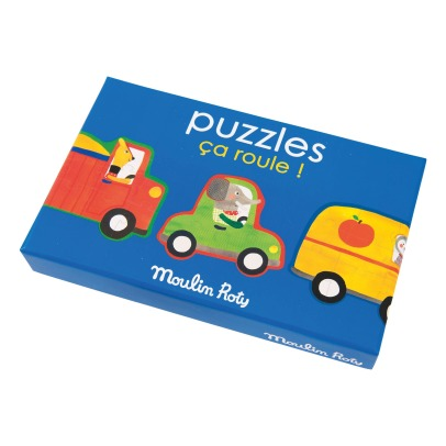 Moulin Roty Ca roule! Puzzle - Set of 4-listing