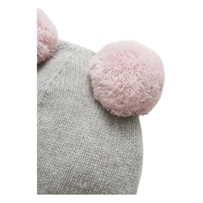 Il Gufo Beanie with Removable Pompons-listing