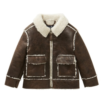 Il Gufo Faux Leather Sherpa Jacket -listing