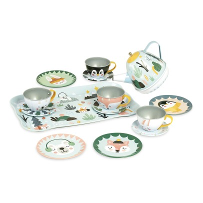 Vilac Musical Tea Set by Michelle Carlslund - 14 Pieces -listing