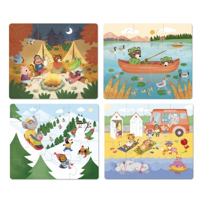 Vilac The Holidays Puzzle - Set of 4 -listing