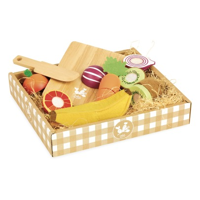 Vilac Wooden Fruits and Vegetables - 7 Pieces -listing