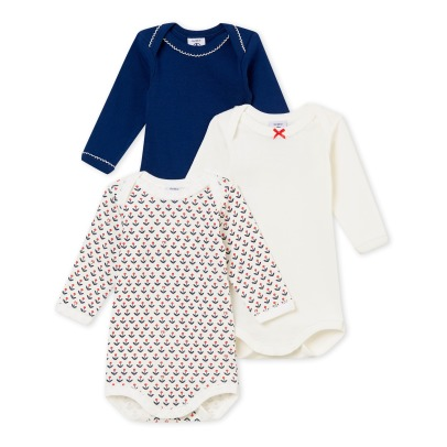 Petit Bateau Lot of 3 Frenchy Bodies -listing