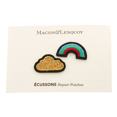 Macon & Lesquoy Two Rainbow and Cloud Patches-listing