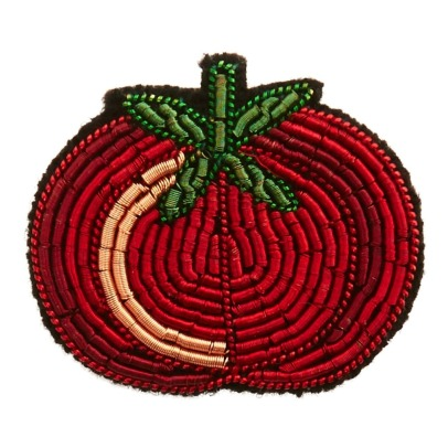 Macon & Lesquoy Embroidered Tomato Brooch-listing