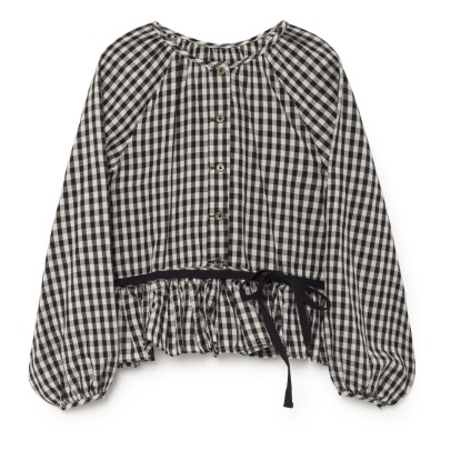 Little Creative Factory Checkered Linen Blouse - Women's Collection-listing