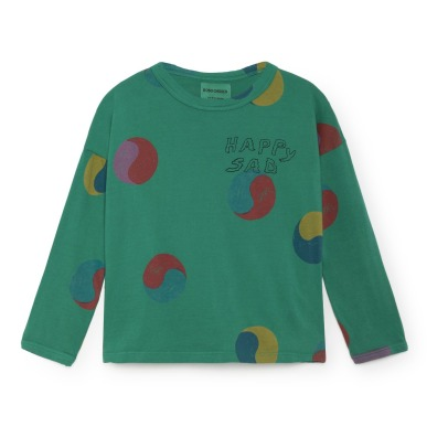 Bobo Choses T-Shirt Coton Bio Ying Yang Happy Sad-listing