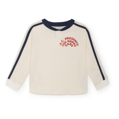 Bobo Choses Organic Cotton Buttoned T-shirt-listing