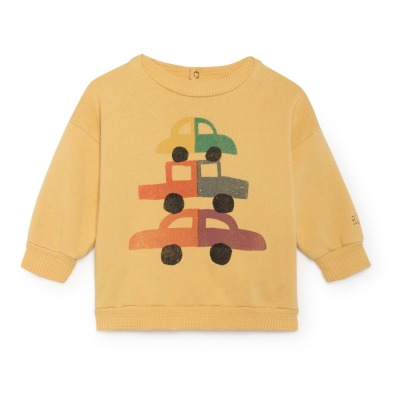 Bobo Choses Organic Cotton Cars Sweatshirt-listing