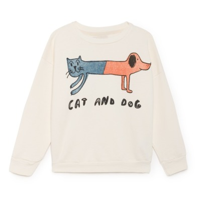 Bobo Choses Cat and Dog Organic Cotton Sweatshirt-listing