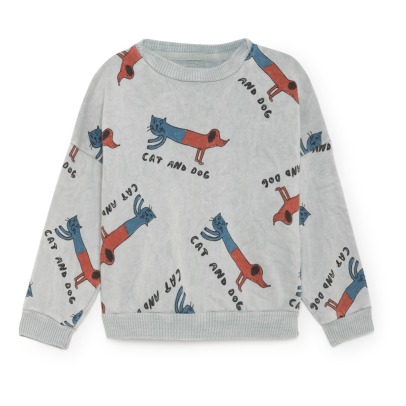 Bobo Choses Sweat Coton Bio Dogs and Cats-listing